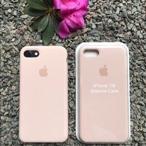 NEW iPhone 7/8 Silicone Case Pink Sand